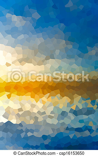 sunset in the form of a mosai - csp16153650