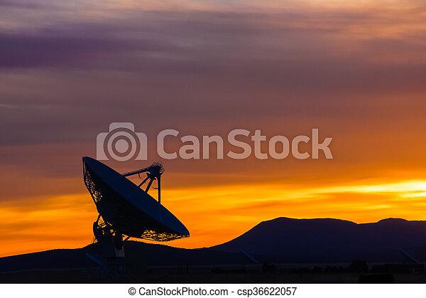 Sunset in the high desert - csp36622057