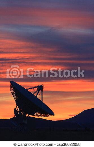 Sunset in the high desert - csp36622058