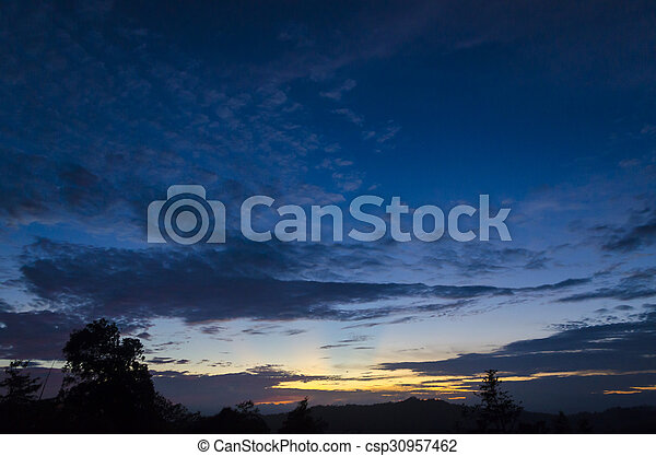 Sunset in the mountain - csp30957462