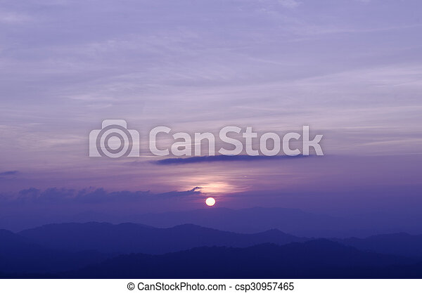 Sunset in the mountain - csp30957465
