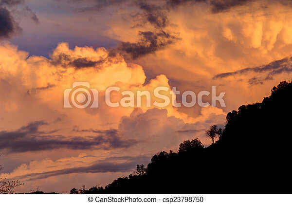 sunset in the mountain - csp23798750