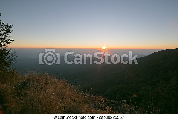 Sunset in the mountain - csp30225557