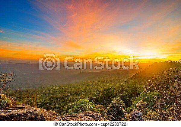 sunset in the mountain - csp42280722