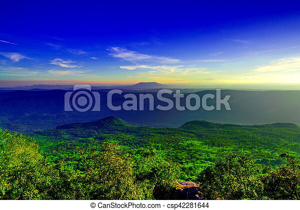 sunset in the mountain - csp42281644