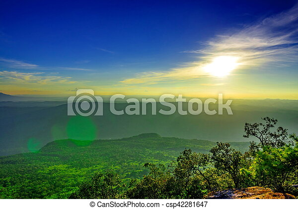 sunset in the mountain - csp42281647