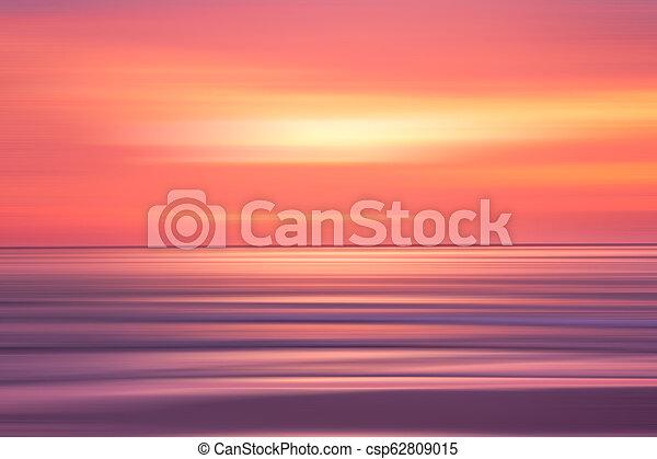 sunset in the Ocean - csp62809015