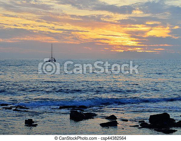 sunset in the ocean - csp44382564
