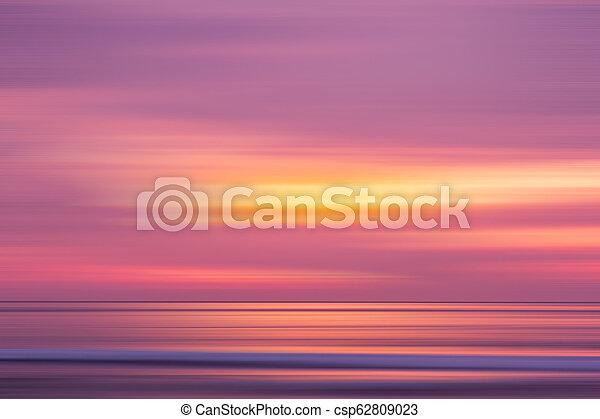 sunset in the Ocean - csp62809023
