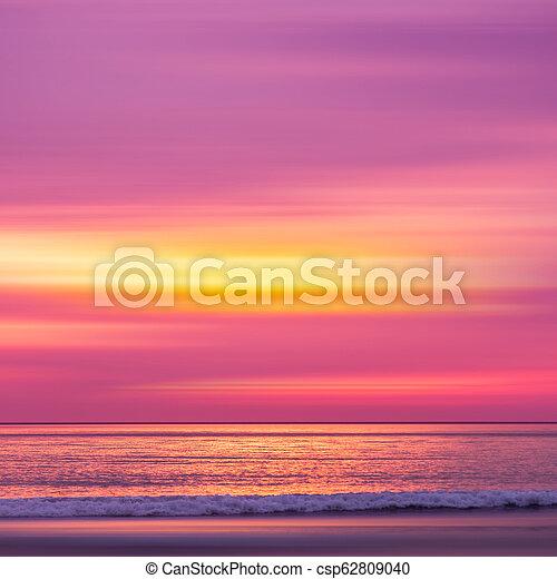sunset in the Ocean - csp62809040