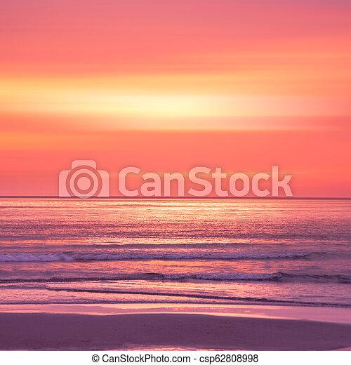 sunset in the Ocean - csp62808998
