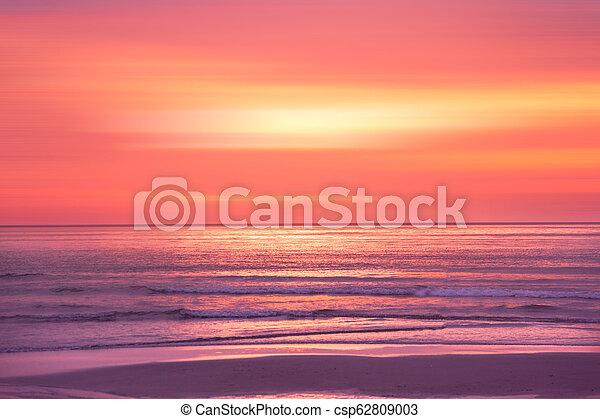 sunset in the Ocean - csp62809003