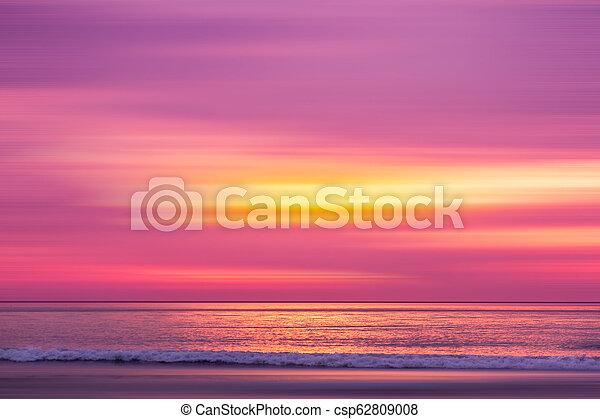 sunset in the Ocean - csp62809008