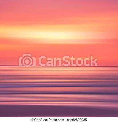sunset in the Ocean - csp62809035