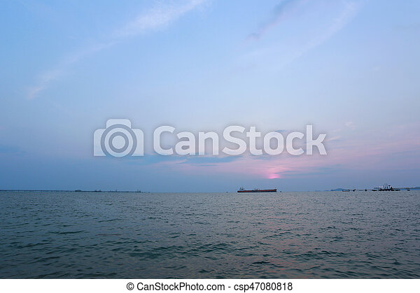 sunset in the sea. - csp47080818