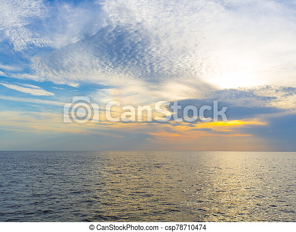 Sunset in the sea - csp78710474