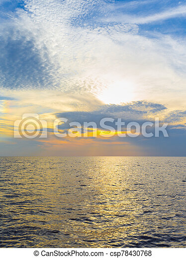 Sunset in the sea - csp78430768