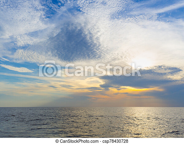 Sunset in the sea - csp78430728