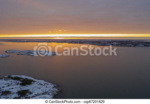 Sunset in winter in Gothenburg - csp67201829