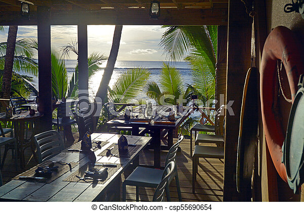 Sunset Landscape Rarotonga Cook Islands