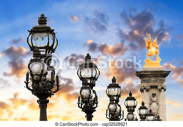 Sunset lanterns - csp32528921