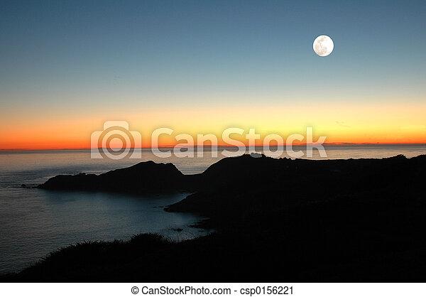 Sunset Moon - csp0156221