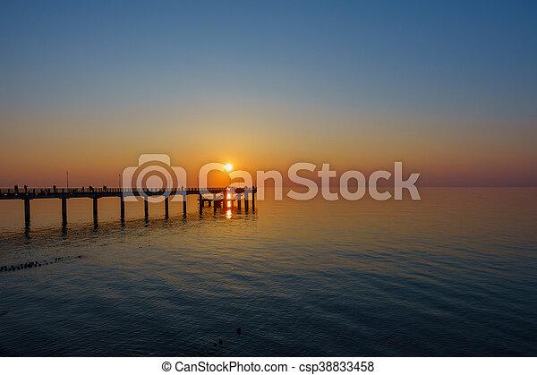 Sunset on Baltic sea coast - csp38833458