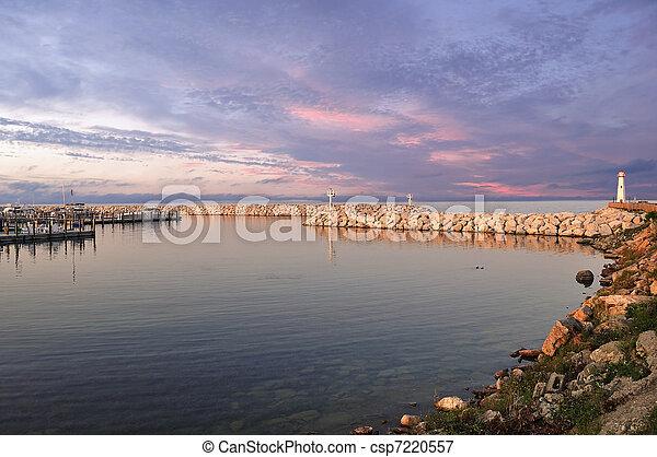 Sunset on marina - csp7220557