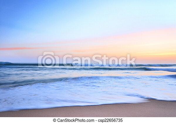 sunset on sea - csp22656735
