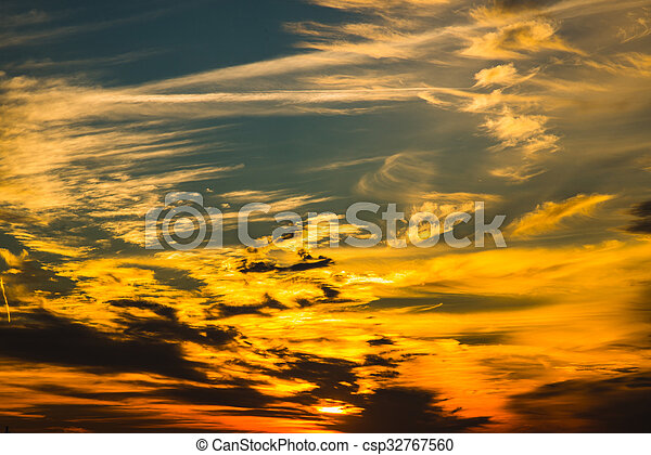 Sunset on the background of clouds - csp32767560