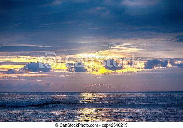 sunset on the beach in Thailand - csp42540213