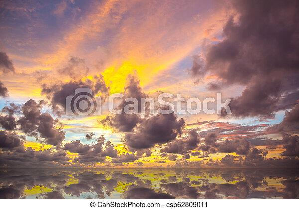 sunset on the beach in Thailand - csp62809011