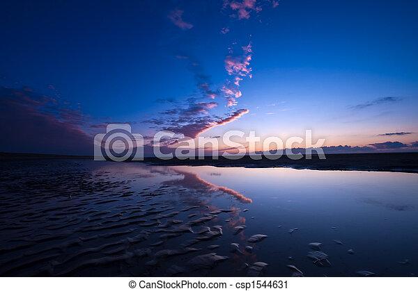 Sunset on the beach - csp1544631
