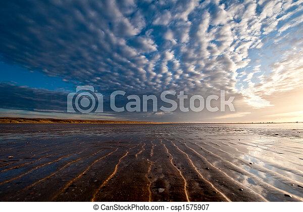 Sunset on the beach - csp1575907