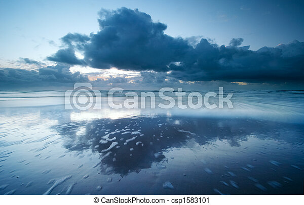 sunset on the beach - csp1583101