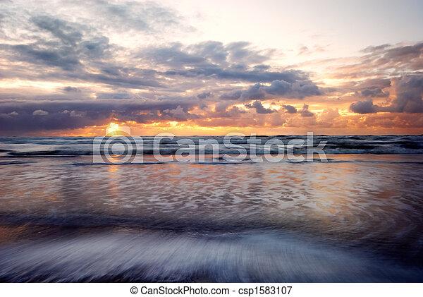 sunset on the beach - csp1583107