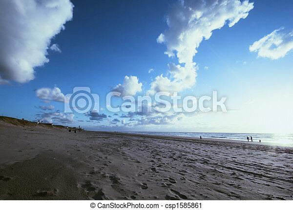 sunset on the beach - csp1585861