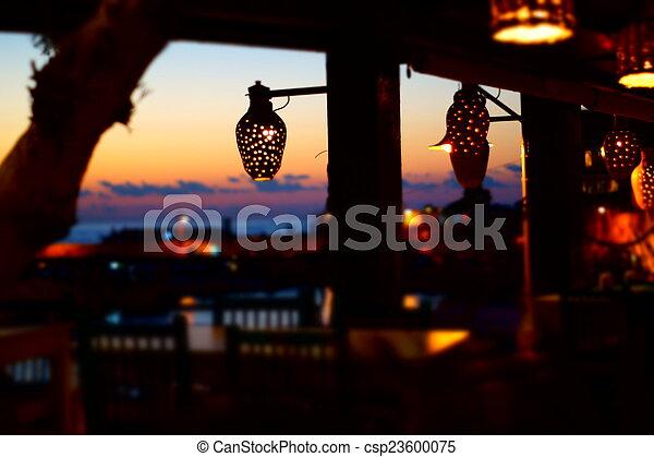 sunset on the beach - csp23600075