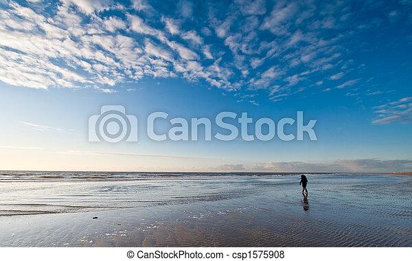 Sunset on the beach - csp1575908