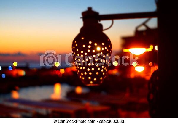 sunset on the beach - csp23600083