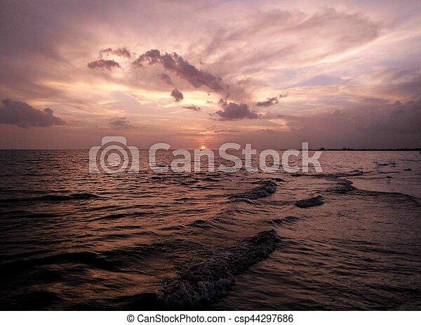Sunset on the Beach - csp44297686