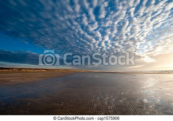Sunset on the beach - csp1575906