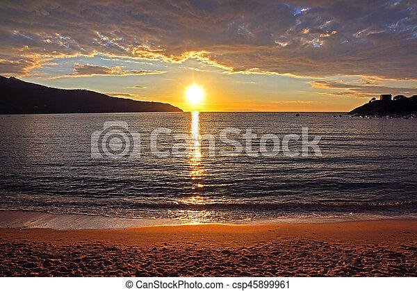 Sunset on the Beach - csp45899961