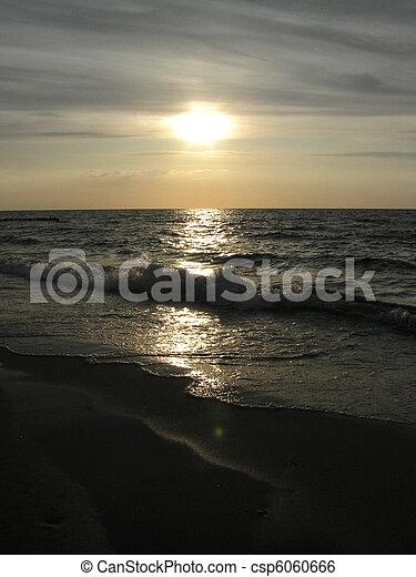 sunset on the beach - csp6060666