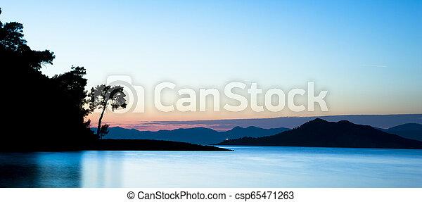 Sunset on the Beach - csp65471263