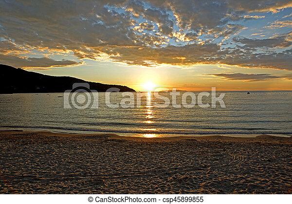 Sunset on the Beach - csp45899855