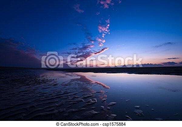 Sunset on the beach - csp1575884