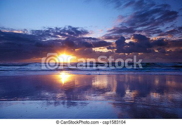 sunset on the beach - csp1583104
