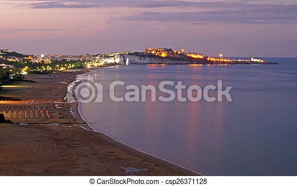 sunset on the beach - csp26371128