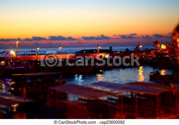 sunset on the beach - csp23600092